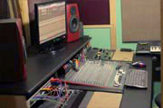 Recording studio mixing desk and console